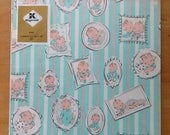 vintage baby wrapping paper in package