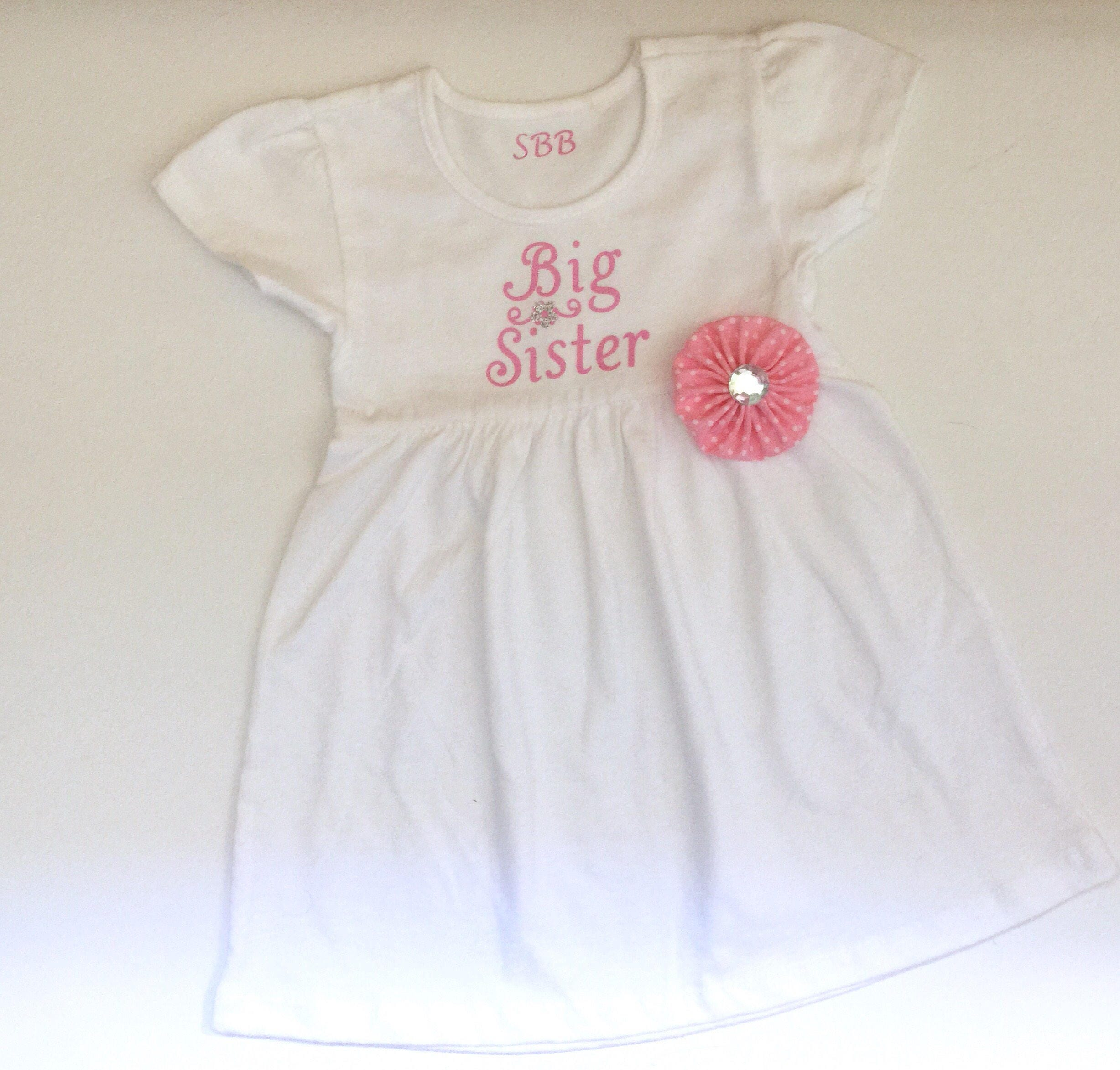 Big Sister Little Sister OUTFITS Shabby chic baby pink and white