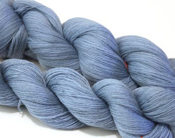 Laceweight Yarn 100% Lambswool 1400 Yards per 100g Powder Blue
