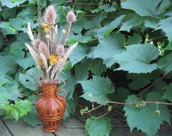 TEASEL VASE natural neutral  floral  dried flower arrangement