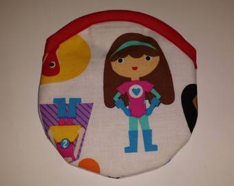 Travel Earring or Earbud USB Pouch Padded Case - Super Kids Super Girls Ann Kelle