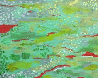 Mermaid's Tail - Original Abstract Painting by Amanda Laurel Atkins