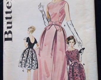 Vintage Butterick Pattern 2489, Butterick Vintage Evening Dress Pattern Size 12 Bust 32, Vintage Bell Skirted Evening Dress Pattern