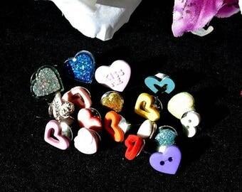 Eclipse Sale Mixed Heart Thumbtacks Pushpins, Valentine Mixed Heart Button Tacks, Valentines Day Gift, Gift For Him