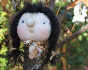 Mira the Kitchen Witch - Kitchen Witch Doll - Herb Witch - Green Witch - Good luck doll for your kitchen!