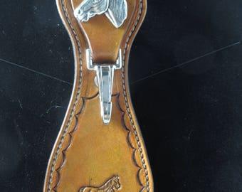 Handcrafted Leather Belt Loop/keyring