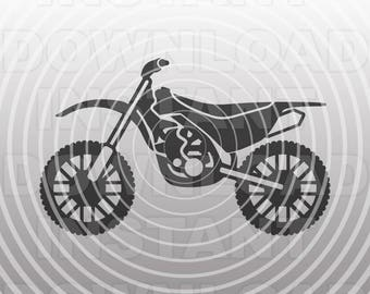 Motocross SVG File,Dirtbike SVG,Motorcycle svg -Vector Art for Commercial & Personal Use- Cricut Explore,Silhouette,Cameo,Vinyl Decal