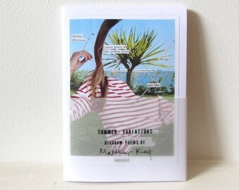 Summer \ Variations: artists book of diagram poems | zine, book art, collage poetry chapbook