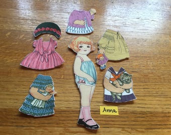 DIY Kit of ONE Sheryl Rae Marquez Aunt Lindy's Fabric Paper Doll With Five Dresses Out of Print Fabric