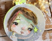 She sparkles White - original ornament by Mindy Lacefield