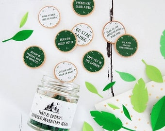 SALE Outdoor Adventures Ideas Personalised Jar - Father's Day Gift - Personalised Father's Day - Adventure Jar