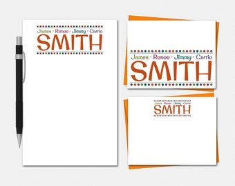 Family Billboard Stationery Set - Family Billboard Stationary - Free US Shipping - Personalized Stationery for Family - Family Stationery