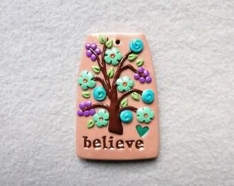 Happiness Tree/Healing Tree Pendant - HOPE
