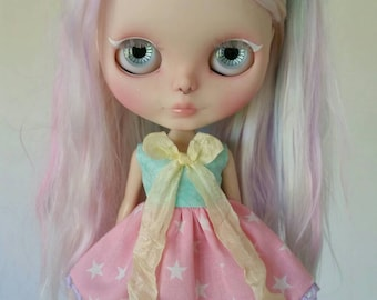 Pastels and Stars dress for Blythe and Pullip