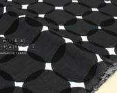Japanese Fabric double gauze - spots - black, white - 50cm