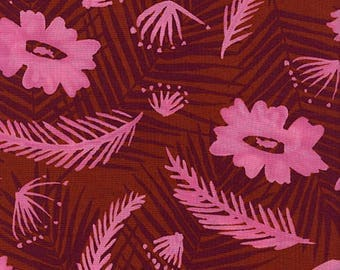 Cotton + Steel Poolside rayon - palm springs bouquet - pink - 50cm - PRE-ORDER