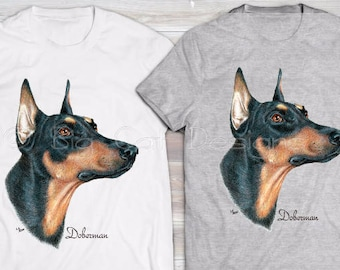 DOBERMAN TSHIRT.  Doberman Rescue Shirt.  Doberman Dog T-Shirt. Doberman Gift.  Doberman Lover Shirt.