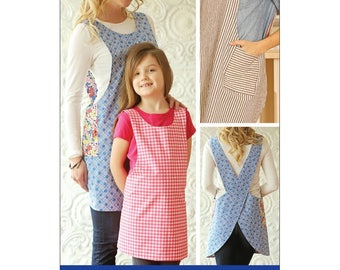 FREE SHIP Indygo Junction CROSSBACK Reversible Apron Sewing Pattern