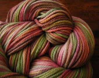 Handpainted Turkish Cotton Yarn 180yds 3.5 oz Worsted Weight Hand Painted Aspenmoonarts C048 knitting weaving