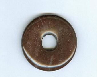 PI DAY SALE Brown Jasper Donut, 45mm Brown Jasper Gemstone Pi Donut Focal Pendant 1227