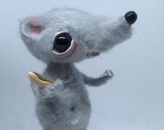 Ralph the rat with a sweet tooth Ooak  art doll