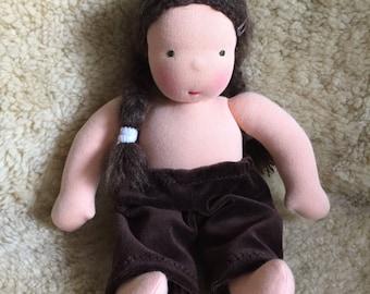 10- 12 inch, brown doll pants, for Waldorfdolls