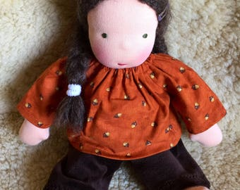 Waldorf doll clothes, for 12 inch, Waldorf Toy, germandolls, fall clothing, Waldorf dolls