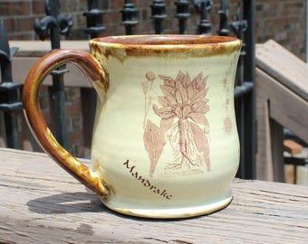 Botanical Print Mug - Mandrake, Foxglove, White Sage