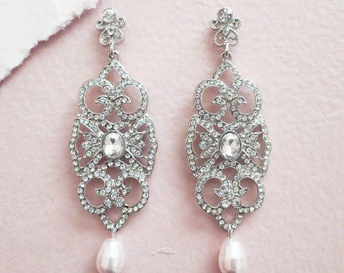 Art Deco Chandelier Earrings Cordelia