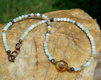 Boho Choker Amazonite Gemstone Necklace