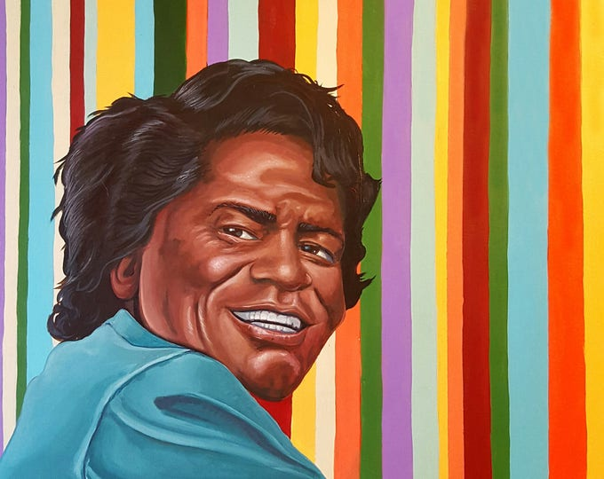 Featured listing image: James Brown - Limited Edition print by Mr. Hooper of Nashville, Tennessee