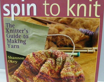 Spin to Knit, instruction book, guide to making yarn, spinning, knitting, yarn, fiber,  Threadsthrutime,
