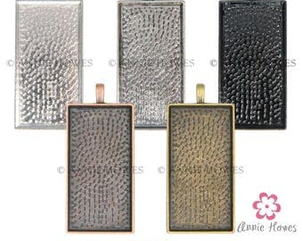 SUMMER SALE 48X24 Rectangle Pendant Trays. Fits 24X48 Glass. Silver, Copper, Bronze, Silver Options. 25 Pack. While Supplies Last.