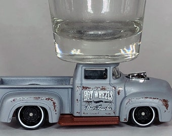 The ORIGINAL Hot Shot, Classic Hot Rods, Shot Glass, '56 DTX35 Custom Ford Truck, Hot Wheel