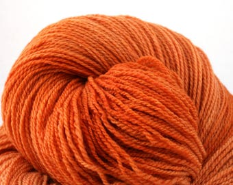 Mohonk Light Hand Dyed fingering weight NYS Wool 550yds 4oz Terracotta
