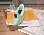 Scotch tape dispenser light mint green  Home Office Retro