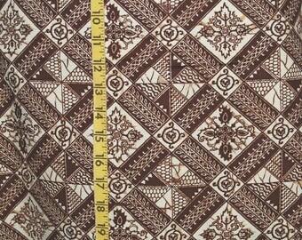 4.5 yds TIKI JAVA fabric Tapa Polynesian FABRIC Batik screen print Hawaiian style fabric