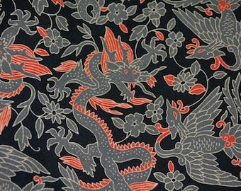 Moda Japanese Asian fabric Dragon Crane fabric Kumo by Sentimental Studios quilting cotton