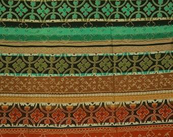 Vintage Boho MOROCCAN fabric woven rayon apparel Beautiful