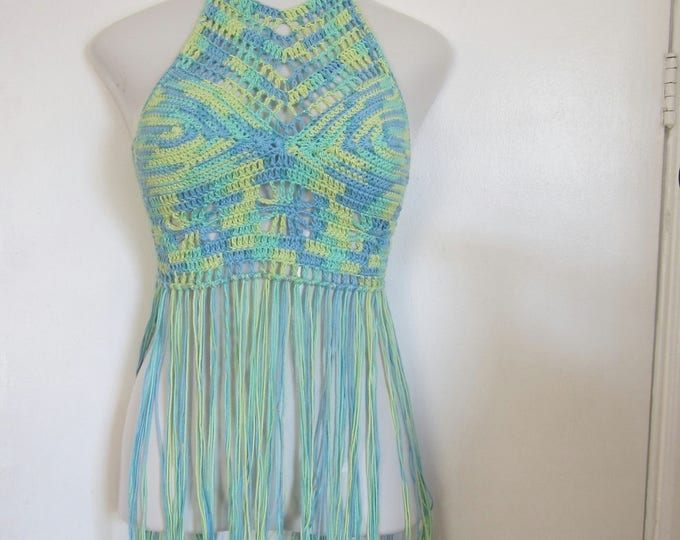 FESTIVAL TOP, Bohemian top, Hippie top, bohemian clothing, bohochic, seabreeze Fringe top, festival clothing, gypsy clothing