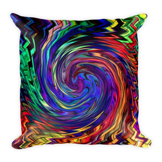 Twirl Throw Decorative Designer Artist Created Pillow 18 inch Square with Zipper and Insert