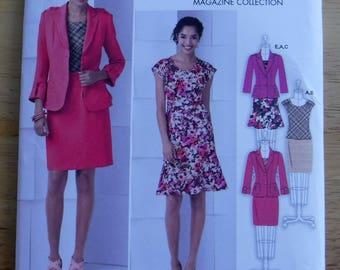 Separates sewing pattern, dress skirt blazer sewing pattern, Simplicity Threads sewing pattern uncut misses K5 sizes 8 10 12 14 16 wardrobe
