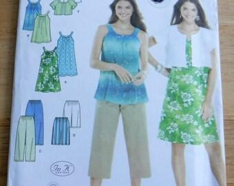 Separates sewing pattern/dress tunic cropped jacket pants shorts sewing pattern/Simplicity uncut pattern/misses xxs xs s m easy wardrobe