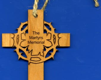 The Martyrs Memorial Cross - Cherry Wood