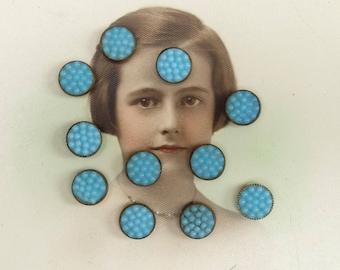 Vintage Glass Button Diminutives Bumpy Glass