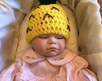 Pineapple beanie all sizes newborn through adult great photo prop