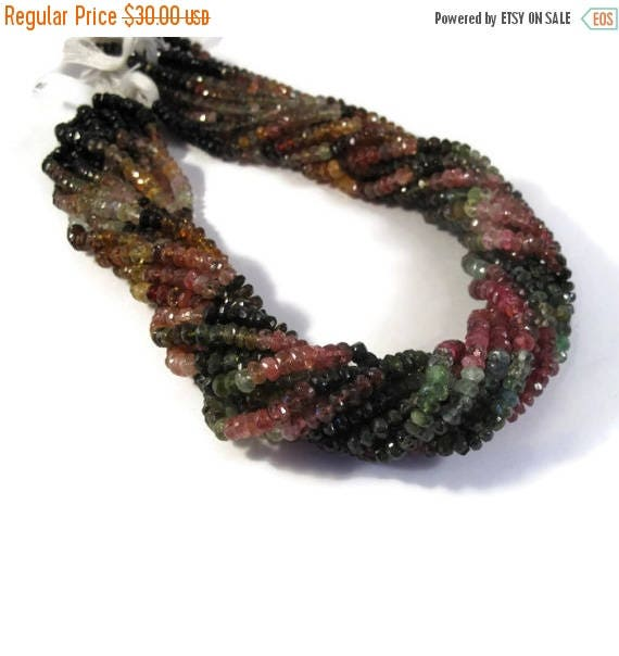 Summer SALEabration - Multi Tourmaline Beads, Faceted