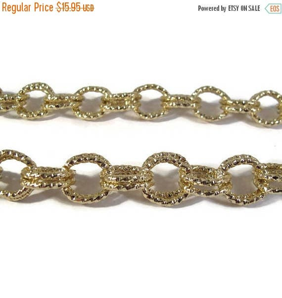 Summer SALEabration - Gold Plated Chain, 23 Inches of Chain, Beautiful Gold Plated Chain for Making Jewelry (F-1d)