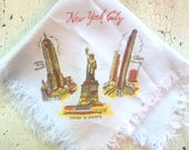 Vintage New York City Souvenir Hankie