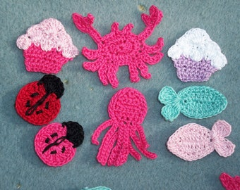 reserved for MONICA  --  52 thread crochet appliques